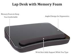 Padded Lap Desk Canada by Sofia Sam Lap Desk Black Supports Laptops Up To 17 Inches