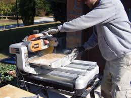 Ridgid Wet Tile Saw by Diy Tile Countertop Extreme How To