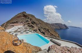 100 Aenaon Villas Wedding Rings With Great Background View From Santorini The