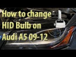 how to replace headl bulb on audi a5 s5 rs5 b8 08 09 10