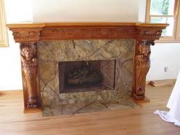Wood Fireplace Mantel Shelves Designs by Traditional Stone Fireplace With Espresso Wooden Mantel Shelf