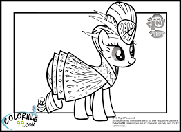Little Pony Rarity Coloring Pages Team Colors
