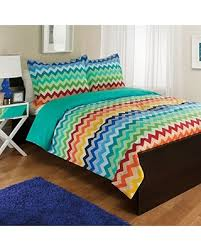 BIG Deal on Royale Home Rainbow Chevron forter Set Twin Multi