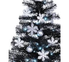4ft Christmas Tree Sale by Buy Home 4ft Christmas Tree Black White U0026 Silver At Argos Co Uk