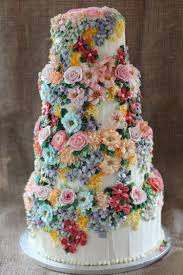 Ivory Floral Wedding Cake Emma Page Buttercream Cakes LondonJPG