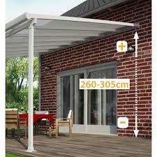 Palram Feria Patio Cover Sidewall by Palram Feria 3x425 White Patio Cover Buy Sheds Direct Palram