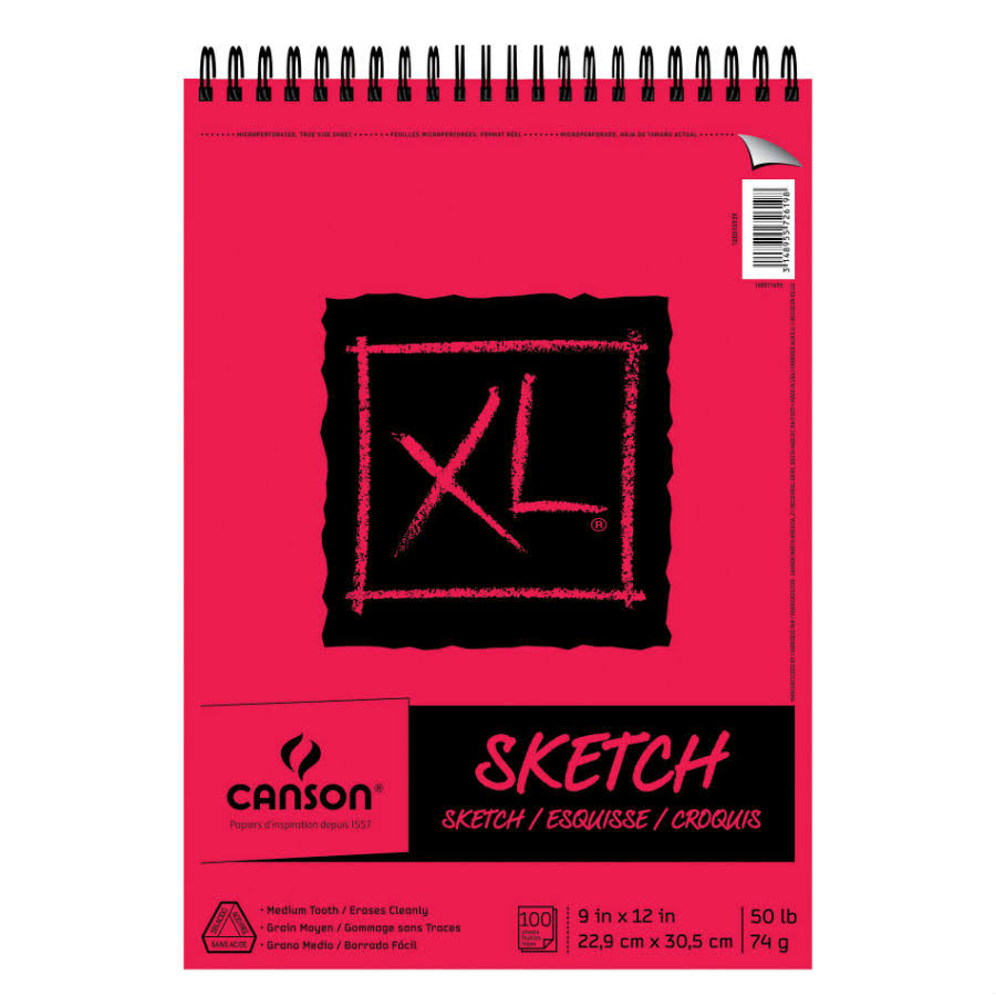 "Canson 9"" x 12"" XL Sketch Pad"