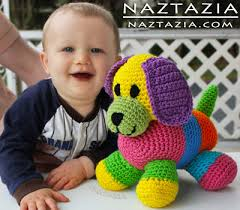 crochet patchwork puppy toy dog amigurumi you can get a free