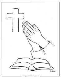 Coloring Pages For Kids By Mr Adron Free Printable Page Of Praying