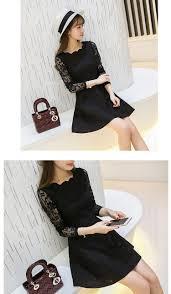 spring summer autumn women lace casual dress long sleeve korean