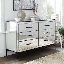 Hayworth Mirrored 3 Drawer Dresser by Mirrored 6 Drawer Dresser West Elm Bestdressers 2017