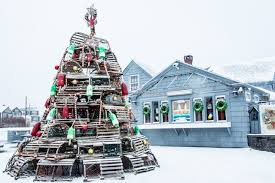 Decorative Wooden Lobster Trap by New England U0027s Crazy Christmas Tree Tradition