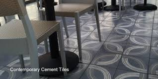 cement tile and ceramic tile for commercial and residential use