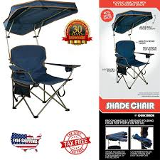 Details About Quick Shade Camping Chair Outdoor Sun Canopy Folding Portable  Camp Beach Seat