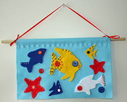 Craft And Activities For All Ages Felt Fish Wall Hanging