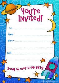 Free Blank Halloween Invitation Templates by Free Printable Boys Birthday Party Invitations Boy Birthday