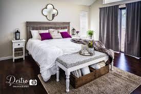 Bedrooms Ni by Rustic Chic Bedroom Decor Diy Farmhouse King Bed Diy Bench Diy
