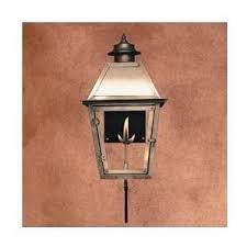 legendary lighting atlas 2 copper gas light with wall