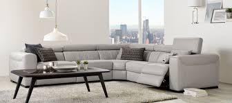 Natuzzi Editions Corner Sofa by Natuzzi Editions Club Grey Leather Power Reclining Corner Sofa