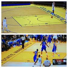 The Warriors Court In NBA 2K15 Is A Little Off Current Shade Of Yellow They Have Incorrect It Should Be More Golden Color As Shown