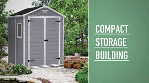 4x6 Outdoor Storage Shed by Keter Manor Shed 6x5 Youtube