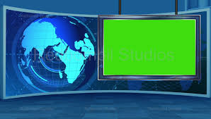 News 16 Broadcast TV Studio Green Screen Background Loopable