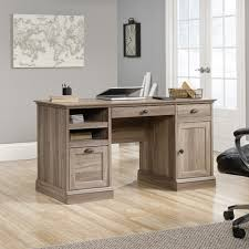 Sauder Harbor View Computer Desk Salt Oak by Barrister Lane Executive Desk 418299 Sauder