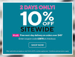 Staples Canada: 10% Off SITEWIDE For 2 Days Only! This Is Not A Typo ... Staples Black Friday Coupon Code Lily Direct Promo Coupons 25 Off School Supplies With Your Sthub Codes That Work George Mason Bookstore High End Sunglasses Squaretrade 50 Pizza Hut 2018 December Popular Deals Inc Wikipedia Coupons For At Staples Benihana Printable Hp Laptop Online Food Uk 10 30 Panda Express Free Orange Staplesca Redflagdeals Sushi Deals San Diego