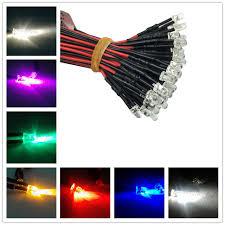 500pcs 3mm pre wired led light l bulb 18cm prewired 12v white