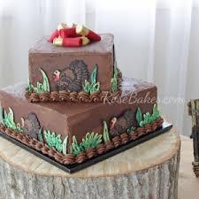 Turkey Hunting Grooms Cake