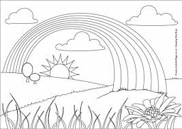 Rainbow Colouring Page 2