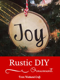 Rustic Wooden DIY Christmas Ornaments