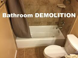 how to do bathroom demolition home renovation tips
