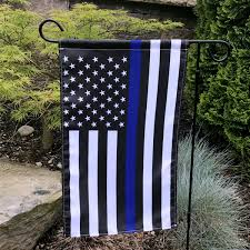 Thin Blue Line Garden Flag Armed American Supply