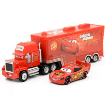 Harga Disney Pixar Cars 2 Toys 2pcs Lightning McQueen Mack Truck The ...