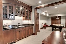 Wet Bar Cabinets Home Depot by Wet Bar Basement Basement Traditional Arched Lighted Medicine
