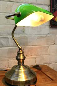Bankers Lamp Green Glass Shade by Traditional Desk Lamps Green Best Vintage Banker Table Lamp Green