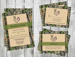 The Hunt Is Over Wedding Invitation W RSVP By TheInkBasket Make Prints At