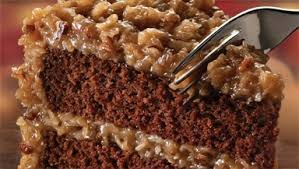 German Chocolate Rich chocolate cake with a traditional