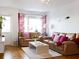 Brown Furniture Living Room Ideas by College Student Living Room Ideas With Pink Curtains White