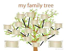 Blank Family Tree Templates Drawing A Template C11