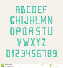 Simple Colorful Font Complete Abc Alphabet Set