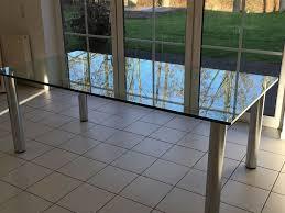 edler glastisch für esszimmer oder wintergarten