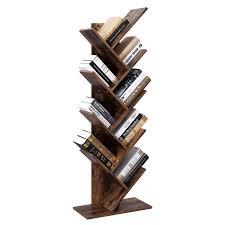 100 Tree Branch Bookshelves VASAGLE Bookshelf 8Tier Floor Standing Bookcase With Wooden Shelves For Living Room Home Office Rustic Brown LBC11BX