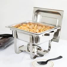 Choice Economy 4 Qt Half Size Stainless Steel Chafer