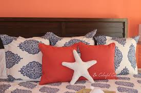 Be Colorful Coastal: Benjamin Moore Fan Coral Bedroom Cute Elephant Pillow Ideas For Comfort Nursery Nadabikecom Reef Coral Embroidered Cushion Covers Pottery Barn Australia Tips Add To Your Home With Crate And Barrel Throw Pillows Decorative 5 Enchanting Not Decor Look Alikes Quilts Bed Gear Jcp Bedding Duvet Target Euro Shams Colorful Fujisushiorg 25 Unique Barn Fall Ideas On Pinterest My New Teal And Coral Room Teen Chevron Duvet With Terrific Toss Decorated Sofa