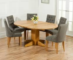 Round Oak Dining Table For 6 Room Awesome Solid Extending And Chairs