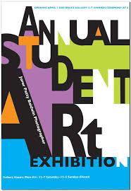 Student Art Exhibition Poster By Michael Reuscher Via Behance