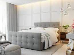 details zu boxspringbett schlafzimmerbett mauro 180x200cm grau inkl bettkasten