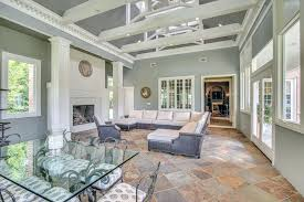 Slate Colors Flooring Floors In Living Room Traditional With Tile Crown